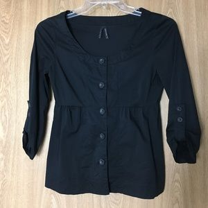 Old Navy Women's Small Black Button Front Shirt
